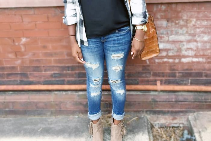Ripped Jeans and Fringe Booties
