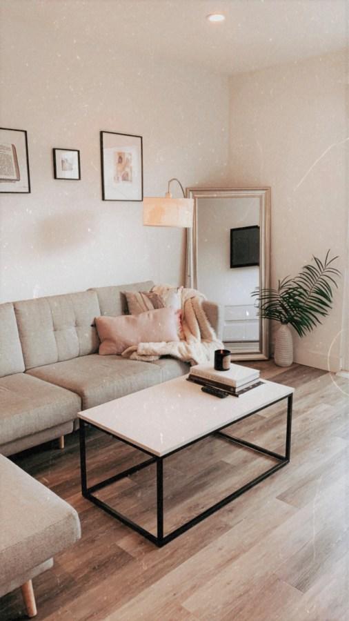 My Apartment Living Room Decor - Brenna Anastasia