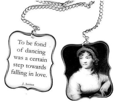 Jane Austen Bookmark at Etsy