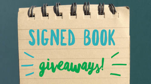 signed book giveaways