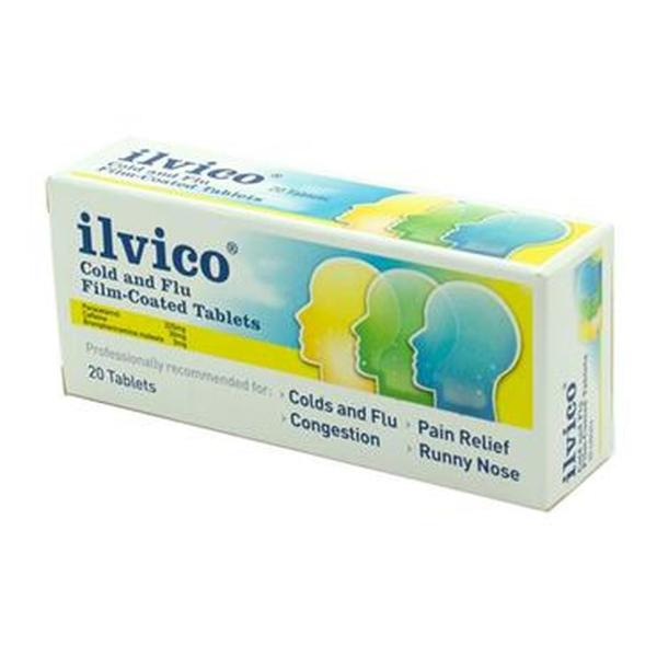 ILVICO COLD AND FLU FILM COATED TABS (20's)