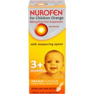 NUROFEN FOR CHILDREN 100MG 5ML ORANGE 100ML