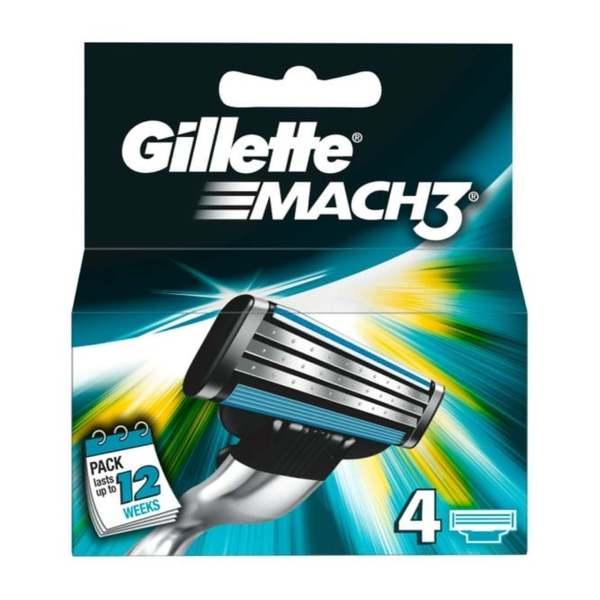 GILLETTE MACH 3 BLADES (4's)