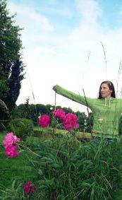 grüner Kapuzenhoodie