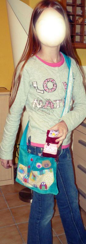 Kinder-Tasche mit bunten Eulen