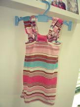 Sommershirt Mädchen gestreift rosa braun Rückseite