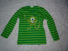 fertiges Monster auf dem grünen Shirt