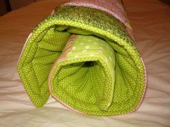 Brennender Schuh - Babydecke Hannah rosa-hellgrün Volumenvlies