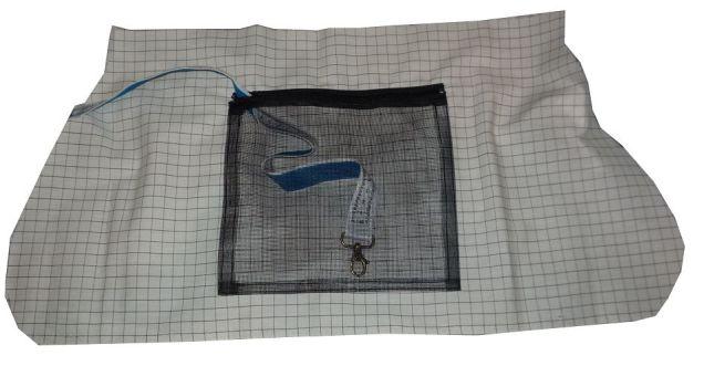 Brennender Schuh - Reißverschluss Innenfach Handtasche Netz - Fliegengitter