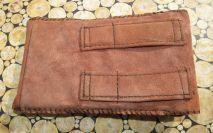 Brennender-Schuh Smartphone-Hülle Wild-Leder, Gürtel-Laschen, Klettverschluss, innen Filz