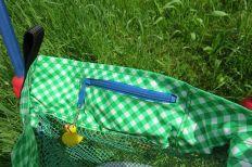 Dreirad-Tasche, beschichtete Baumwolle, Wachstuch, mit Reißverschluss-Fach, Spielplatz-Tasche