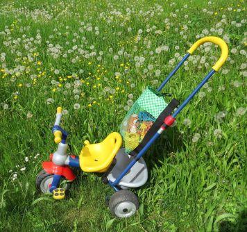 Dreirad-Tasche, Mesh, Netzstoff, beschichtete Baumwolle, Wachstuch, mit Reißverschluss, Spielplatztasche (5)