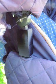3-D-Druck schwarz - Adapter für Kinderwagen - Erhöhung Dach - Sonnenverdeck