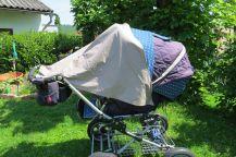 Sonnensegel Kinderwagen seitlicher Schutz abknöpfbar genäht