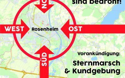 Vorankündigung: Sternmarsch und Kundgebung in Rosenheim