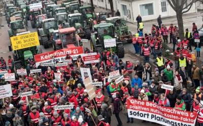 Protest gegen den Brennernordzulauf