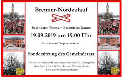 """Sondersitzung """"Brenner-Nordzulauf"""" des Gemeinderats Stephanskirchen"""
