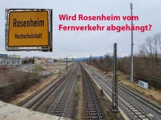 Die Planungen von DB und ÖBB mit einer Umfahrung von Rosenheim würden dazu führen, dass Rosenheim vom Fernverkehr abgehängt wird. Quelle: Brennerdialog