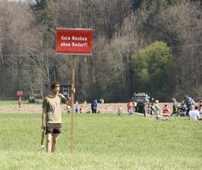Eine Trompete ist auch für den Protest gegen den Brenner-Nordzulauf geeignet. Quelle: Brennerdialog