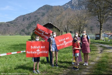 Auch die Jugend kämpft in Nussdorf gegen den Brenner-Nordzulauf. Quelle: Maresa Jung