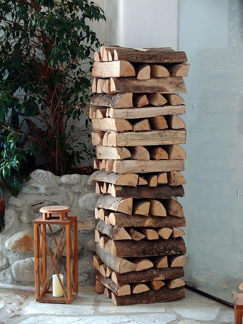 Sichtschutz aus Brennholz  Tipps wie du einen Sichtschutz