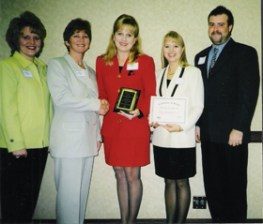 Accepting our Employer of the year award in 1998.