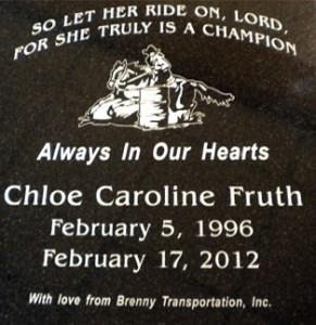 Chloe Fruth Memorial