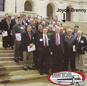 Joyce Brenny with MTA