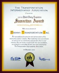 Samaritan Award