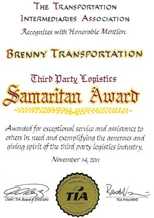 2011 TIA Samaritan Award