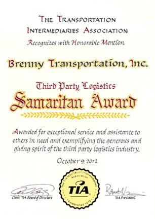 2012 TIA Samaritan Award