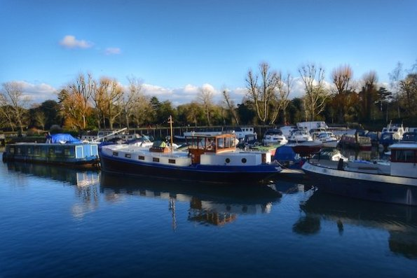 Brentford Dock Marina Sunny Day