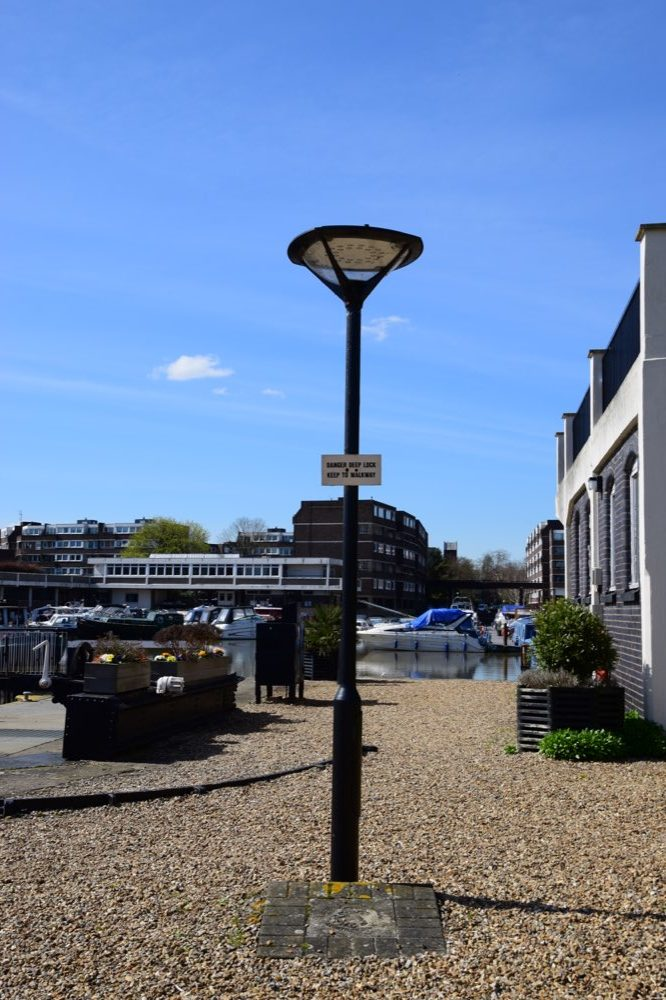 Brentford Dock lamp post