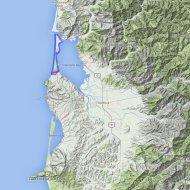 Map of Bayocean Spit