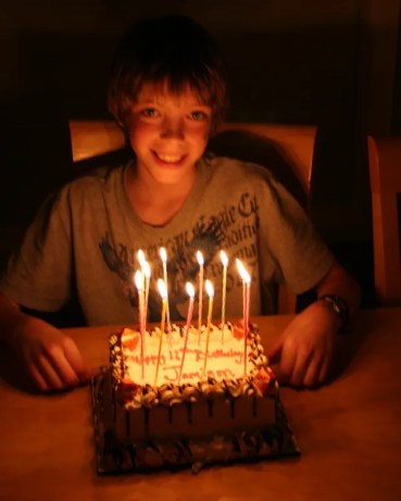 Jamison With 11 Candles
