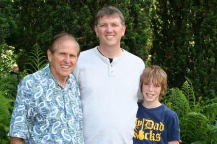 Three generations of Logan men