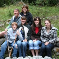 Front: Jamison, Ashley, Heather, and Melissa; Back: Brent and Suzi