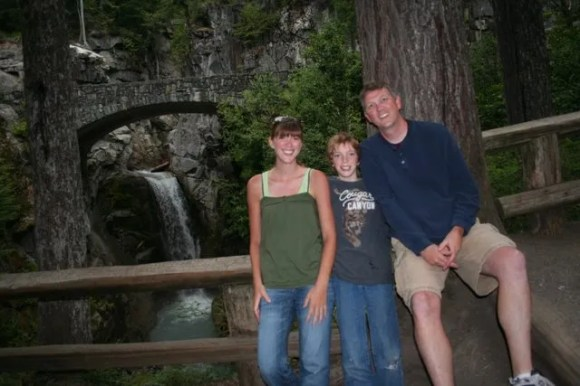 Ashley, Jamison, Brent at Christine Falls (Self-Timer Picture)