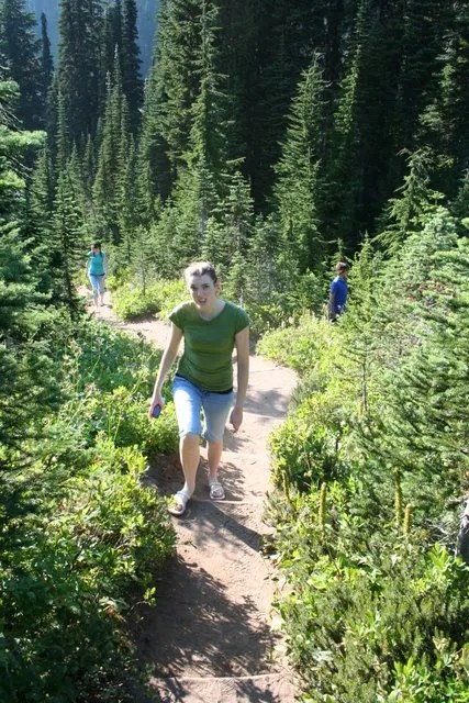 Melissa hiking near Paradise