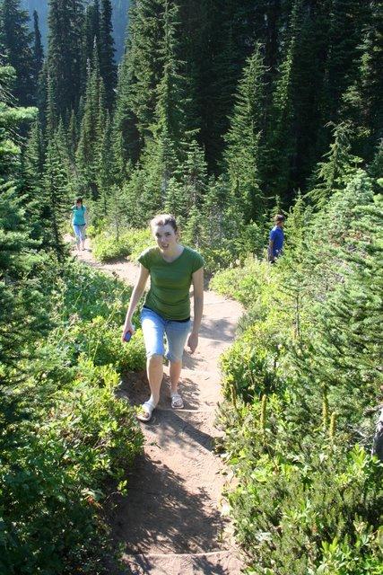 Melissa hiking near Paradise