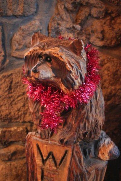 Welcoming Raccoon says come again soon!