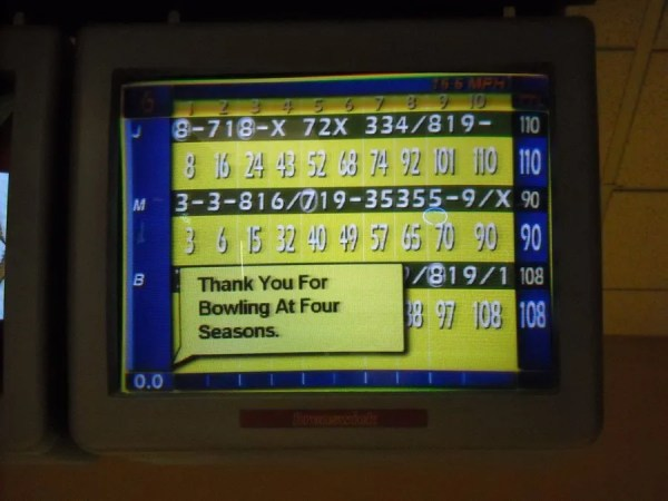Hannah gets 20 points in her final frame; I squander a spare. Jamison wins!