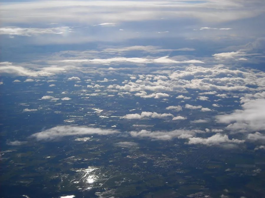 Many layers of clouds