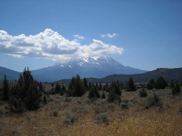 Mt. Shasta from from the north, somewhere