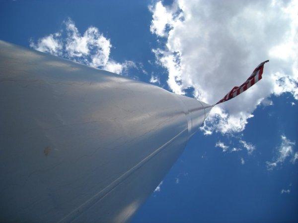 Dorris' flag pole
