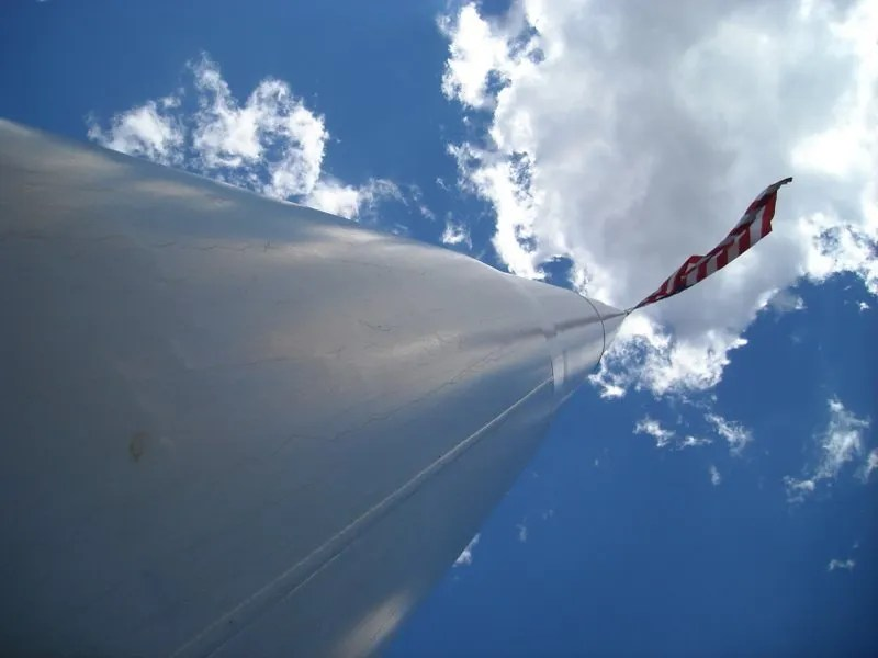 Dorris' flag pole