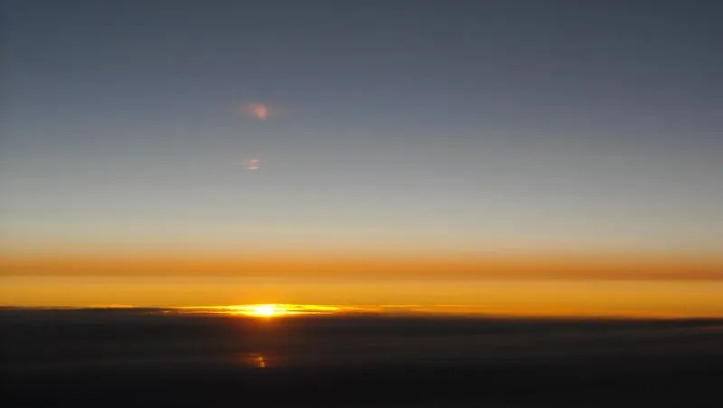 Sunrise at 41,000 feet
