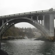 Headed under the Bridge