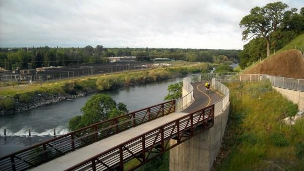 New bike bridge by Hazel Ave. bridge