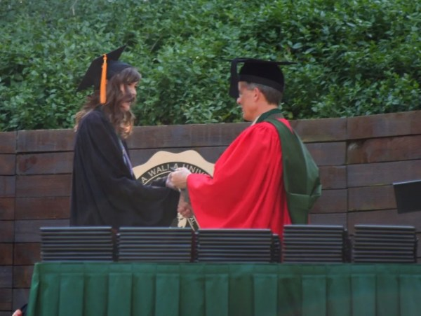 Ashley gets her diploma